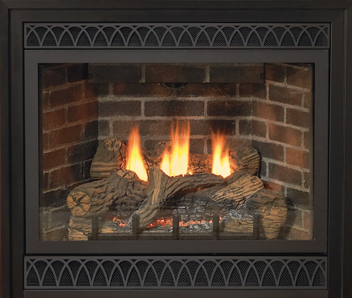 """Empire Tahoe Direct-Vent Fireplace Deluxe 48"""" - Intermittent Pilot Control with On/Off Switch (Battery Backup and AC Adapter) with Blower"""