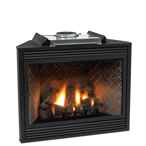 "Empire Tahoe Direct-Vent Fireplace Premium 42"" - Intermittent Pilot Control with On/Off Switch (Battery Backup and AC Adapter) with Blower"