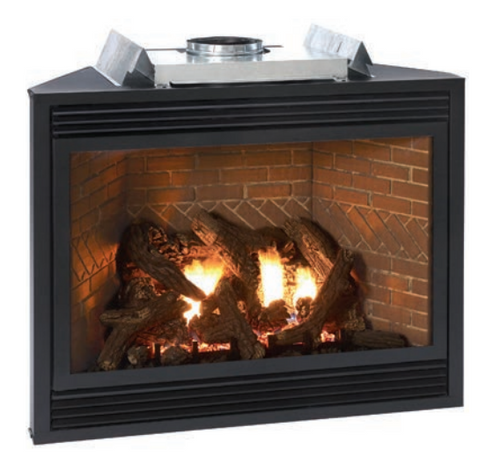 "Empire Tahoe Direct-Vent Fireplace Luxury 36"" - Multi-Function Control (includes Variable Remote to control flame Accent Light, and Blower)"