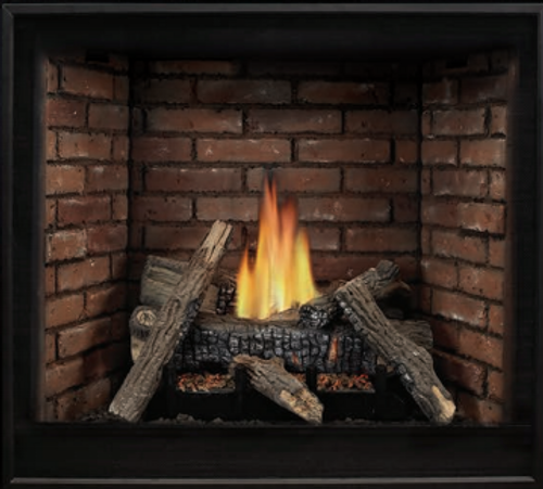 """Empire Tahoe Clean-Face Direct-Vent Fireplace Deluxe 32"""" - Intermittent Pilot Control with On/Off Switch (Battery Backup and AC Adapter) with Blower"""