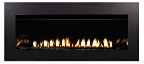 Empire Boulevard Vent Free Contemporary Linear Fireplace with standard Matte interior and 4 inch Surround