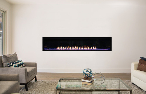 "Empire Boulevard Linear Vent Free Fireplace with Barriers 60"" - Intermittent Pilot with Thermostat Remote, LED Lighting, 40,000 Btu"