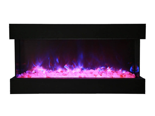 Amantii 40-TRU-VIEW-XL – 3 sided 40 inch Wide Electric Fireplace