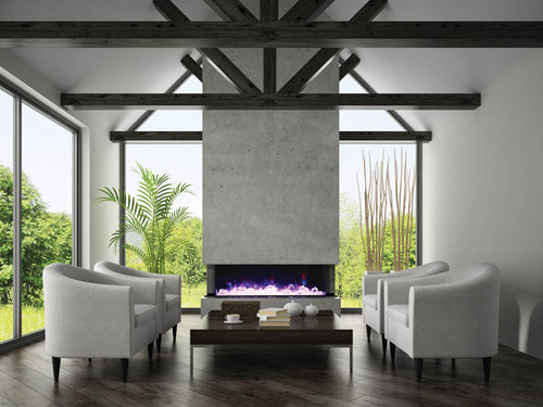 Amantii 72-TRU-VIEW-XL – 3 sided 72 inch Wide Electric Fireplace