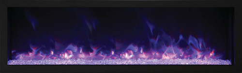 """Amantii 72"""" Deep Indoor or Outdoor Electric Built-in Only with Black Steel Surround"""