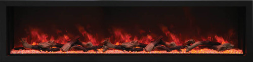 "Amantii 88"" Deep Indoor or Outdoor Electric Built-in Only with Black Steel Surround"