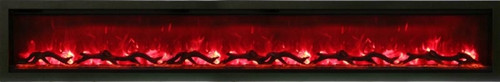 "Amantii 100"" Clean face Electric Built-in with Log and Glass, Black Steel Surround"