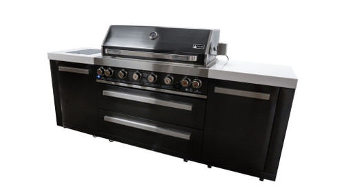 Mont Alpi 805 Black Stainless Steel Island