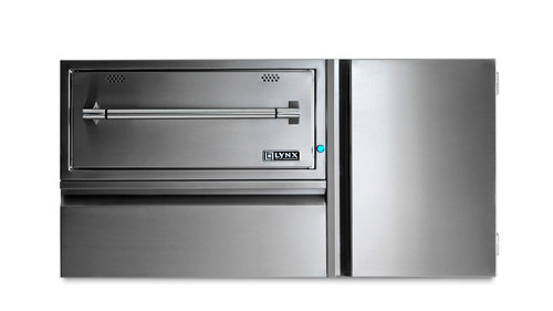 "Lynx 42"" Convenience Center with Warming Drawer, Utility Drawer and Tank Storage"