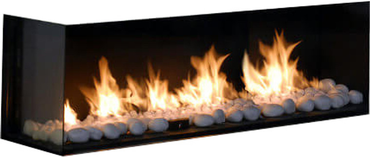 Flare Left Corner Modern Fireplace Embers Fireplaces