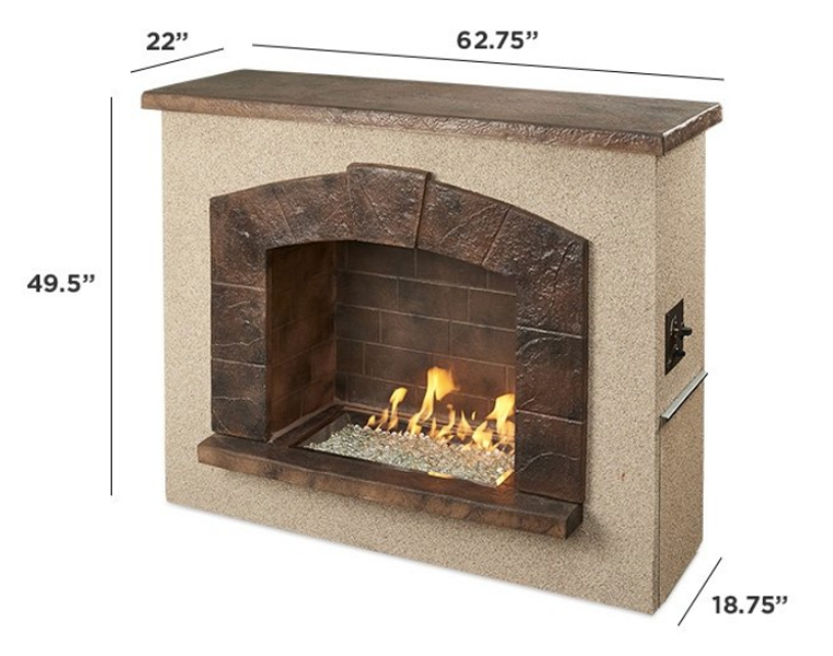 Outdoor Greatroom Stone Arch Freestanding Gas Fireplace ... on Embers Fireplaces & Outdoor Living id=77471