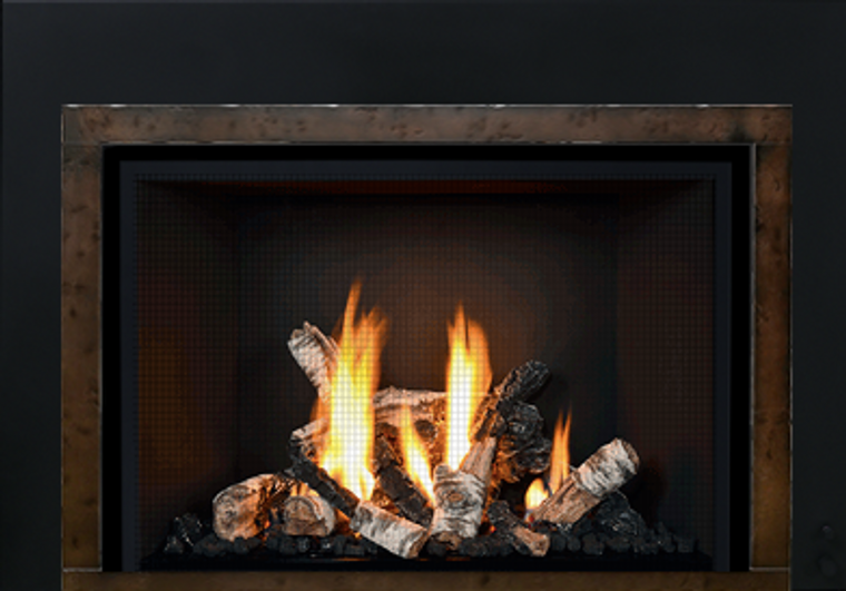 Mendota- FullView Decor Gas Fireplace Insert - Embers ... on Embers Fireplaces & Outdoor Living id=42593