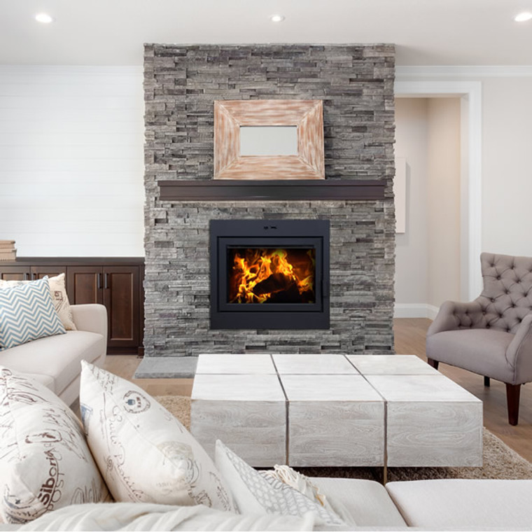 Supreme Astra 32 Zero-Clearance Wood Burning Fireplace ... on Embers Fireplaces & Outdoor Living id=76424