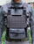 Front View:  ULPH Harness in Tempest Grey with Crusader MOLLE Front Panel, Ranger Green PT4 belt lightweight tactical belt