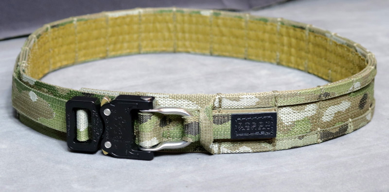 """1.5"""" D-ring Cobra buckle, velcro-secured D-ring, buckle tail fastener"""