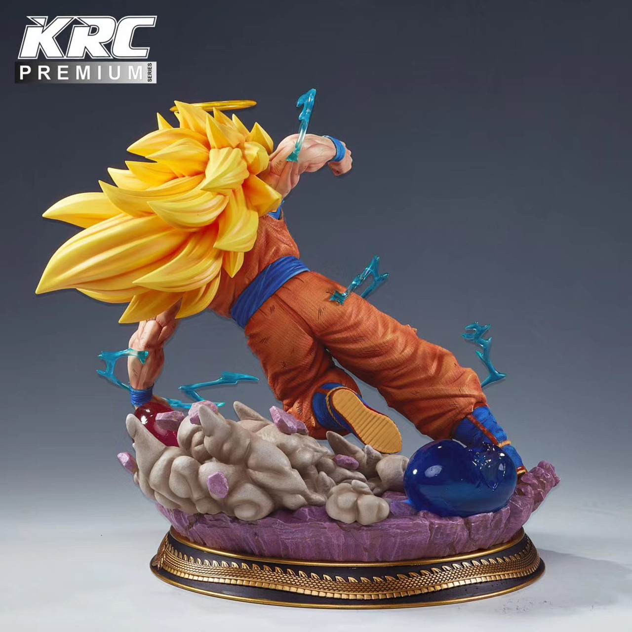 100/% Studio 32*47*50cm Dragonball Goku Roshi Resin Tournament Arena Presale New