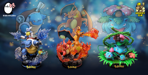【IN-STOCK】EGG studio Bulbasaur& Blastoise Charizard PLUS  Full SET