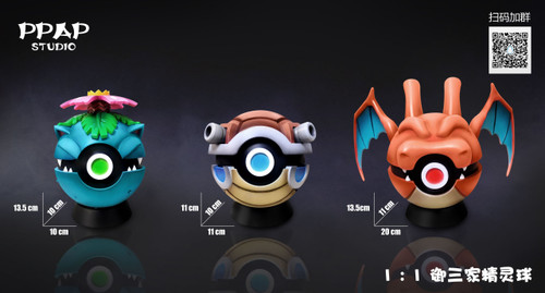 【PRE-ORDER】PPAP Studio Three Poké Balls  1:1  scale resin statue