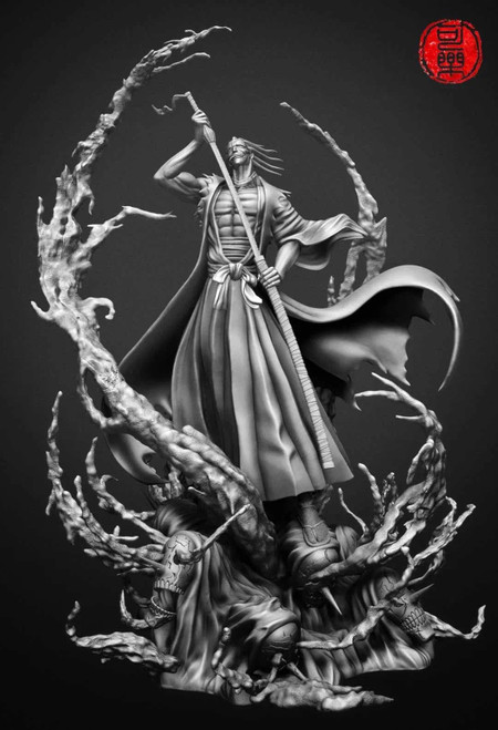 【WISH-LIST】 cola 1:4 / 1:6 Kenpachi resin statue