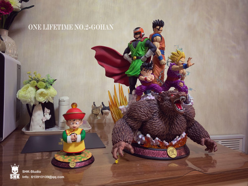 【IN-STOCK】SHK studio full set Gohan resin statue 1:6 FREE KID GOHAN EX VERSION