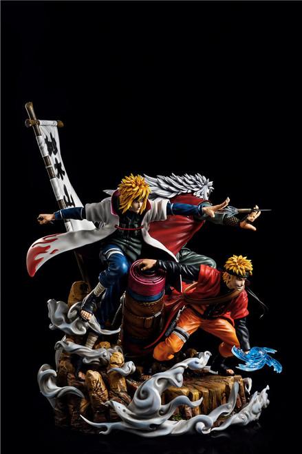 """【PRE-ORDER】CW& Surge studio 1/7 scale  """"Fate"""" Minato&Naruto&Jiraiya resin statue"""