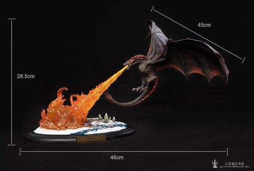 【PRE-ORDER】SculpTure Modeling ART studio Game of Thrones Dracarys resin statue