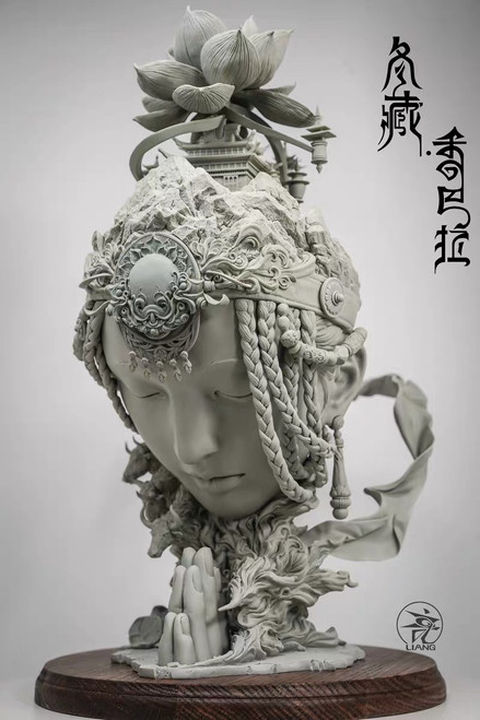 【PRE-ORDER】YUAN XING LIANG Shambhala- winterTibetan  'Gray' without painting resin statue
