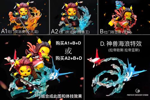 【PRE-ORDER】Crescent-Studio  Demon Slayer pikachu resin statue SET