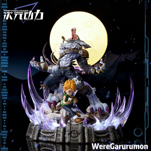 【PRE-ORDER】DIMENSION POWER STUDIO  Ishida Yamato VS Garurumon resin statue