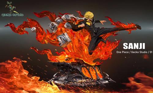 【PRE-ORDER】Gecko Studio demon Sanji resin statue with LED