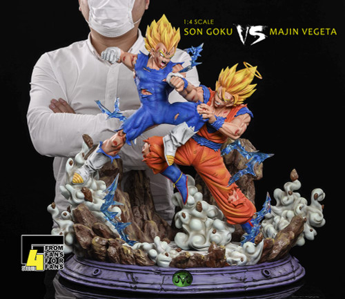 【IN-STOCK】F4 studio goku vs maji vegeta 1:4