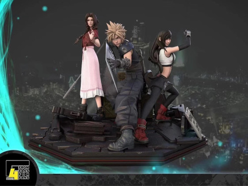 【PRE-ORDER】F4 studio  Cloud &Tifa &Aerith resin statue  Early bird price