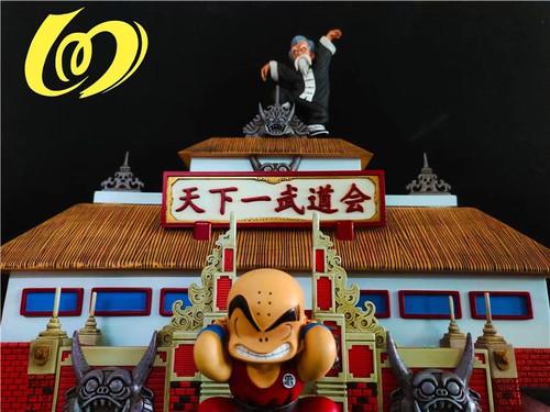 【PRE-ORDER】100%-Studio Master Roshi & Kuririn  resin statue