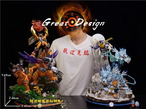 【IN-STOCK】GD-Studio  WarGreymon Digimon Adventure resin statue