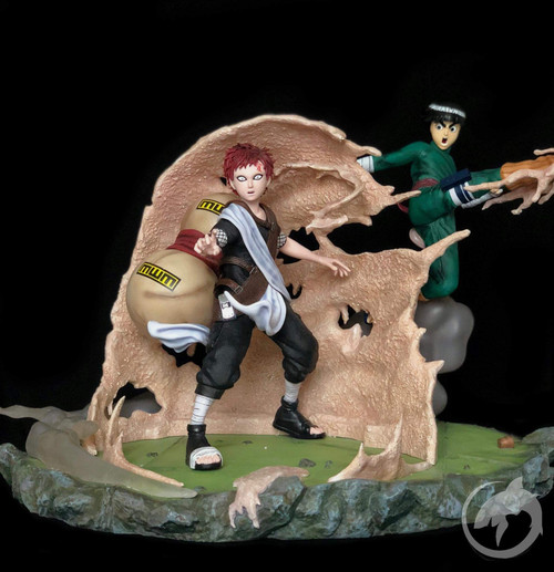 【IN-STOCK】shark studio rock lee vs gaara 1:6 resin statue