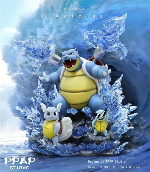 【Pre-order】PPAP Studio  Pokemon Blastoise Family resin statue