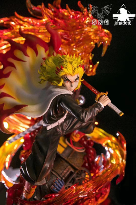 【Pre-order】SXG & SHADOW Studio Rengoku Kyoujurou resin statue 1:6 with LED