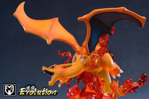 【Pre-order】MFC Studio  Charizard Family resin statue with Breath LED