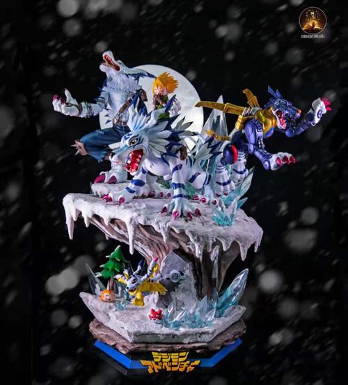 【PRE-ORDER】MIMAN Studio Garurumon Group resin statue with LED