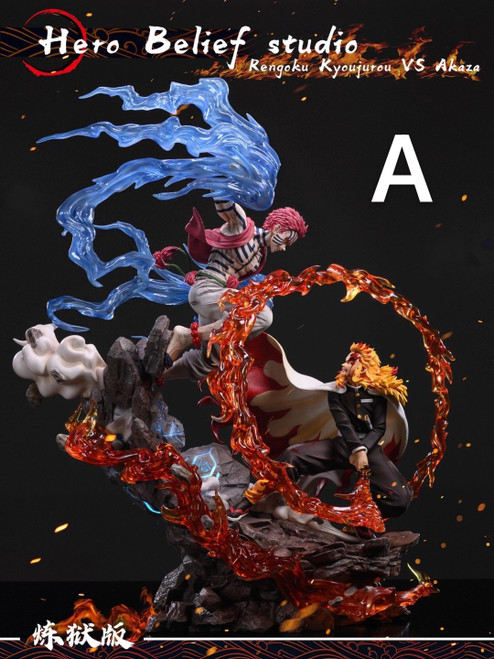 【PRE-ORDER】Hero Belief Studio Rengoku Kyoujurou vs Akaza resin statue 1/6
