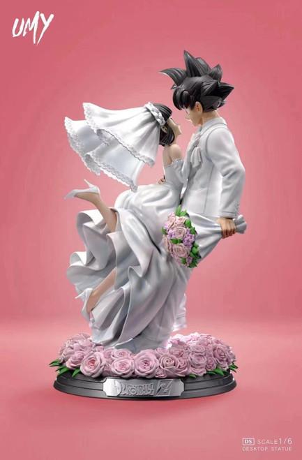 【PRE-ORDER】UMY Studio Goku & ChiChi wedding resin statue 1/6