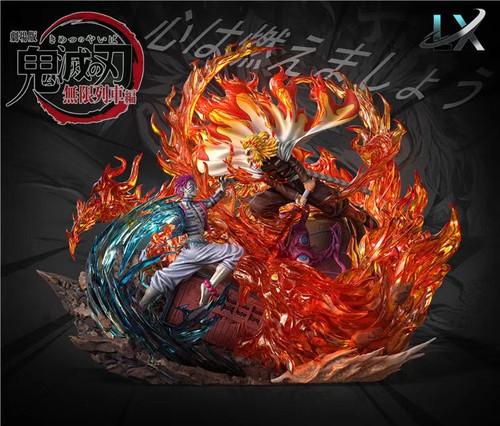 【PRE-ORDER】LX-Studios Rengoku Kyoujurou vs Akaza resin statue with LED