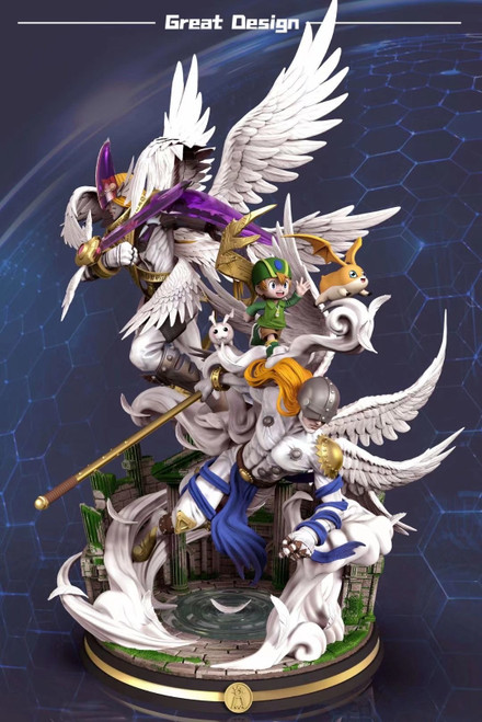 【PRE-ORDER】GD Studio  Angemon resin statue  with LED
