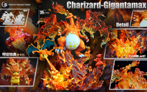【PRE-ORDER】Crescent Studio Charizard Family resin statue with LED