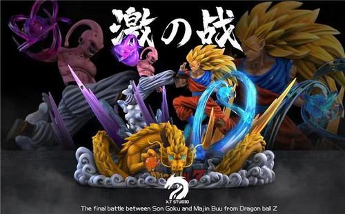 【PRE-ORDER】XT Studio Goku VS Buu resin statue with LED