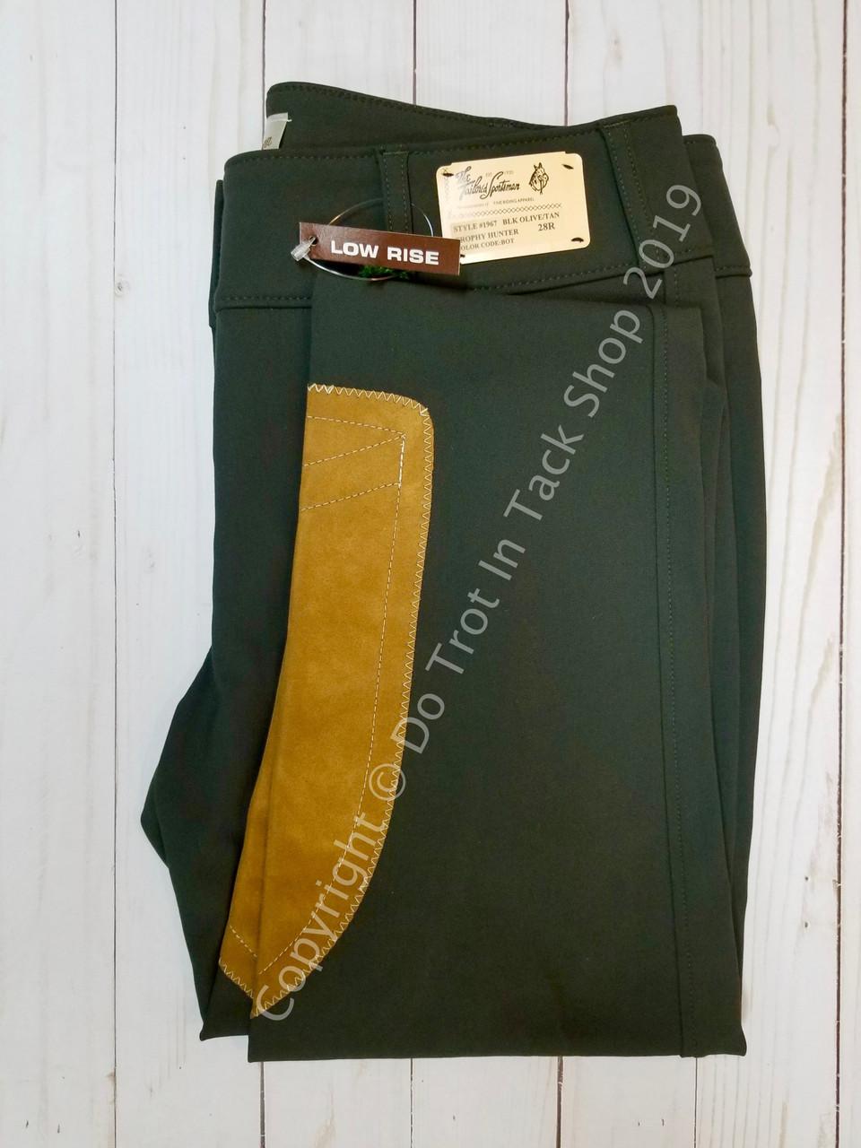 Tailored Sportsman Girls Vintage Trophy Hunter Front Zip Low-Rise Black Olive