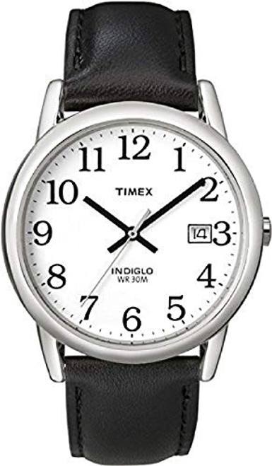 Timex T2H281 Gents easy to read Classic Watch with Black Leather Strap