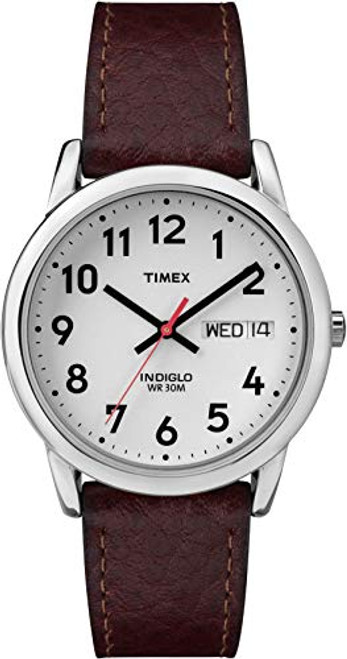 Timex Men's Easy Reader Brown Leather Strap Watch - T20041