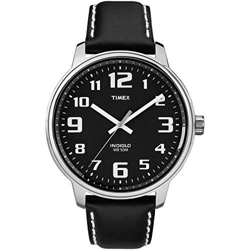 Timex T28071 Mens Black Leather Easy Reader Watch