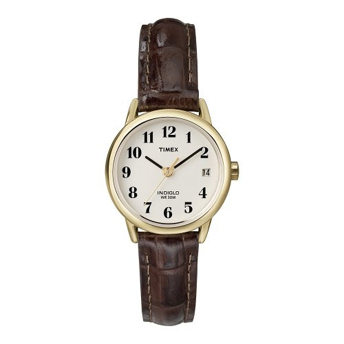 Timex T20071 Ladies Brown Leather Wristwatch